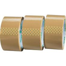 Clear / Tan Color carton sealing adhesive 38mm x 50mtr 48 pk core 7.5 cm .48 mic brown tape