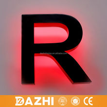 2015 wall mounted storefront backlit channel letter logo sign Aluminium Framed Fascia Shop Sign