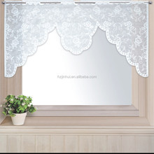 100% Polyester Lace M-style Garden Coffee Curtain Small Half Curtain