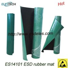ES14101 2 Layers Glossy or Dull ESD Mat rubber material green/blue/grey