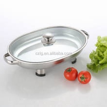 big size stainless steel buffet food warmer container with lid