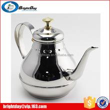 Stainless steel restaurant serving tea kettle