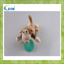 Monkey Type and Plush Material plastic pacifiers toy