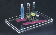 clear acrylic hotel amenity tray