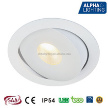 2015 outdoor retrofit led lights 18w adjustable and dimmable led recessed downlight