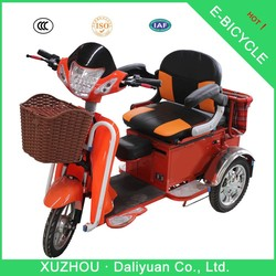 electric passenger 3 wheel mobility scooter motorcycle with baby seat