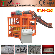 price concrete block machine for cement blocks and paving bricks QTJ4-26C equipment for small business at home