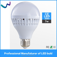 Factory price 7W led light bulb CE ROHS SMD 2835 E27 led bulb 220V for home/office use