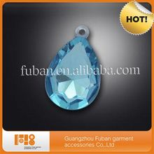 beautiful blue teardrop acrylic rhinestones flat back