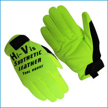 Suede leather mechanic glove