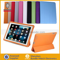 ultra slim full body smart cover leather case for ipad 2/3/4