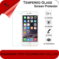 Factory price 0.2mm Full Screen Cover 9H Hardness for Apple iPhone 6 Tempered Glass Screen Protector