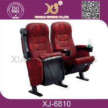 XJ-6810 Folding Cover Fabric Home Cinema Prices Theater Wooden Seating Auditorium Banquet Hall Chairs For Sale