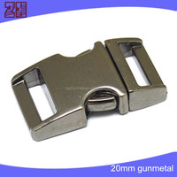Colored metal bag buckle,curved buckle for camping and hiking,metal paracord bracelet buckle