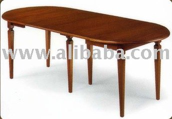 Oval tulipwood table cm 105x60 h 78 open cm 105x225 with 4 - Table largeur 60 cm ...