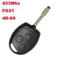 3 button car remote key for Ford Mondeo Fiesta Focus Mondeo key 433Mhz remote Ford key fobs 4D60 chip