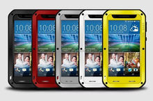 Love Mei Gorilla Glass Aluminum Waterproof Case For Htc Desire 820,For HTC Desire 820 Cover