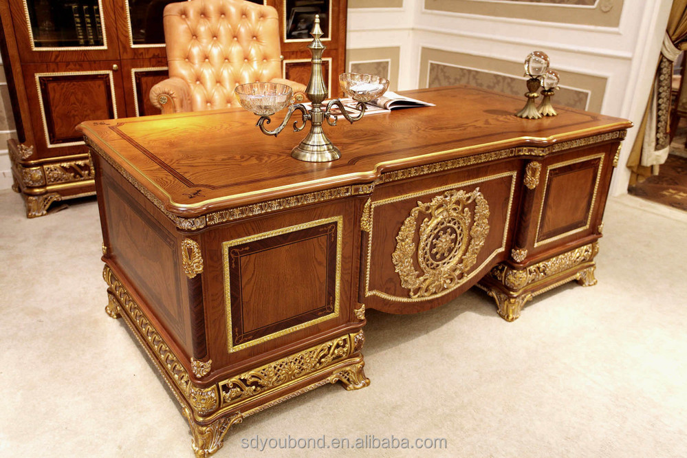 4 E62 writing desk.JPG - 0062 Antique Solid Wood Furniture Latest Office Table Design,Classic