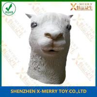 X- MERRY Sheep Latex Full Head Mask Animal Xmas Manger Halloween Costume Accessory Prop Lamb