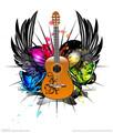 CMYK design piacevole non- tossico di sicurezza del fumetto chitarra tatuaggi adesivi per body art