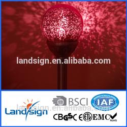 Cixi landsign solar garden light type colored glass ball light series led low voltage