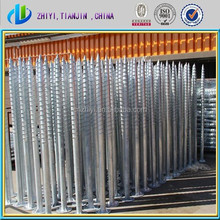 popular Hot dip Galvanized ground screw anchor & earth anchors & ground spikes make in China