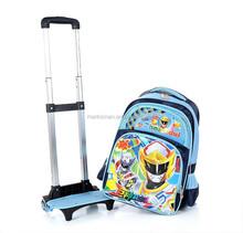 cartoon child school bag on wheel