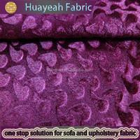 Cheap upholstery polyester embossed velvet felt velour fabric