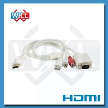 China Manufactory cheap high quality hdmi 1.4 to vga cable