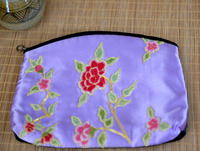 100% Silk Handmade Embroidery Coin Purse Ethnic Vintage Woman Fashion Bag