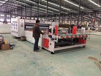 Liheng semi automatic corrugated cardboard carton box flexo ink multi color printing slotting die cutting machine