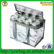 Aluminum foil insulated office can wine cooler plastic bag