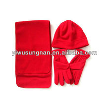 New design pretty major style Custom polar fleece scarf set