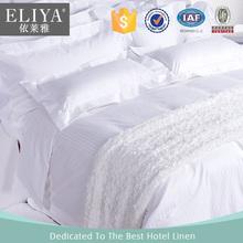La Cubierta de cama blanco y lujo para hotel 100% algodón