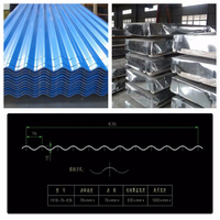 Blue corrugated color roof with price