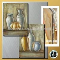 flower vase oil painting