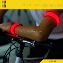 2015 newest promotional nylon led glowing armbands flashing led armband with colorful led light for sport satety