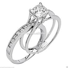New fashion diamond ring engagement couple rings sets