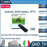 Television 2015! 4k Tt Tv Box Q9 1G/8G Iptv Box Europe Channels With 1 Year Qhdtv Iptv Account 680 Channels Free To Air Decoder