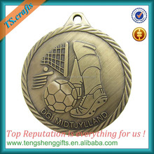 "2"" Superstar bronze soccer medal award"