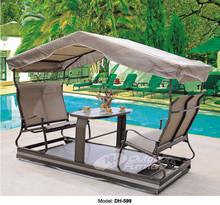 2015 China indoor & outdoor wicker patio garden swing chair with canopy