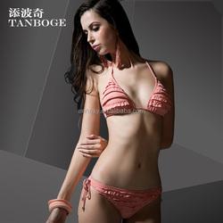 TANBOGE Hot Sexy Women Photo Double Wrinkle Design Brazilian Bikini 2015