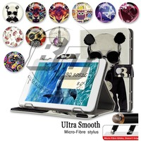 Tablet Universal Case 8 inch Printing Magnetic Stand Wallet PU Leather Flip Cover Case For BQ 8052G 8''