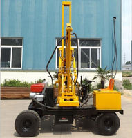 Piling equipment boring hole pile driver