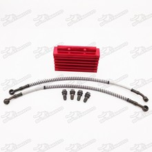 Motorcycle Dirt Pit Bike 125 140 160cc Oil Cooler Radiator With Hose Line Bolts