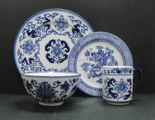 Hot new wholesale 16 pcs hand painted blue and white Asian garden ceramic porcelain dinnerware sets