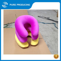 Soft thick plush inflatable travel neck pillow