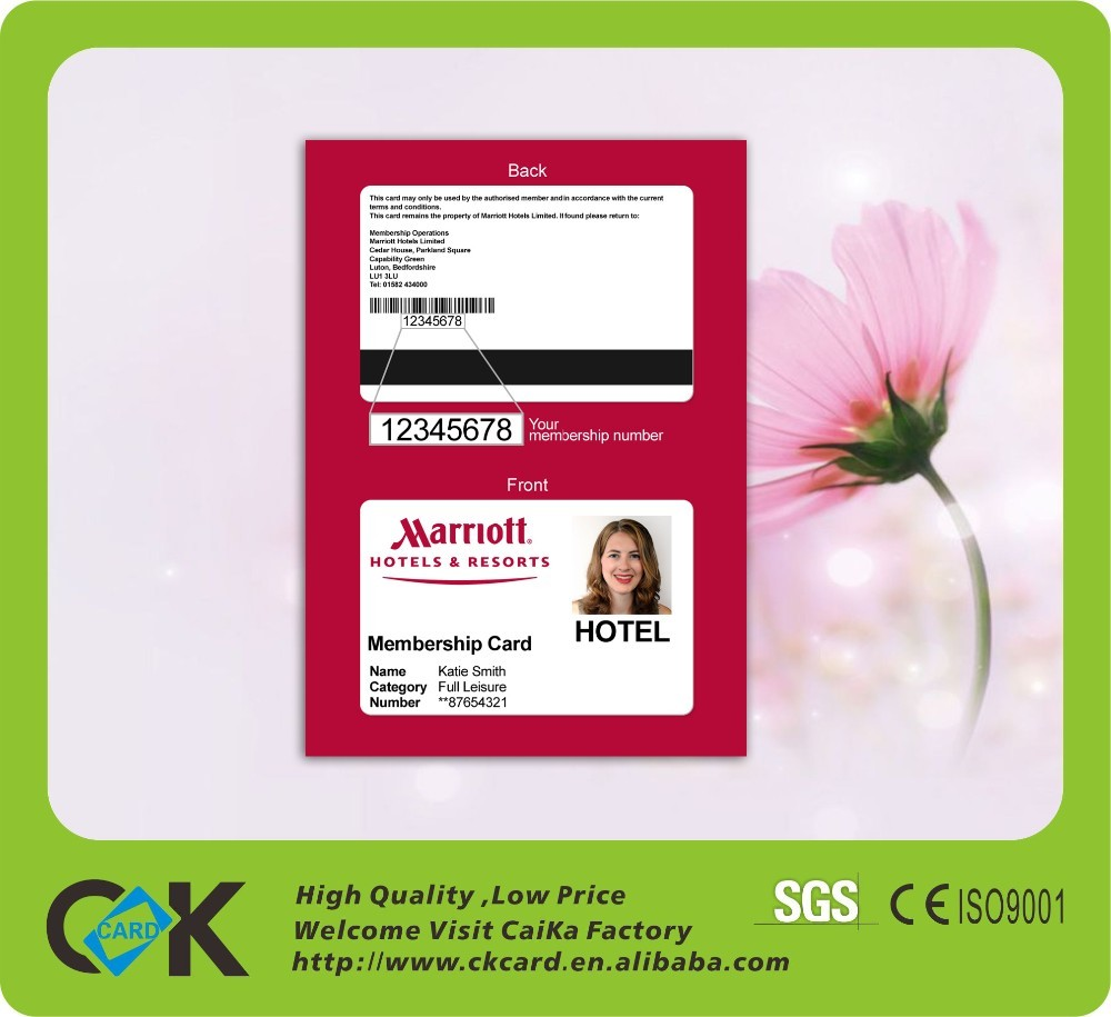 Custom Plastic Sample Employee Id Card Format With Full Color