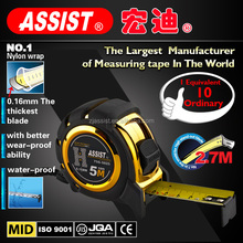 fit hands comfortably waterproof /shockproof nylon wrap magnetic 5m flexible stop lock retractable measuring tape