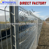 Colorful PVC Coated Wire Mesh Fence With Folds